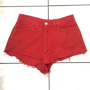 Versace Sport Woman's Red Booty Shorts